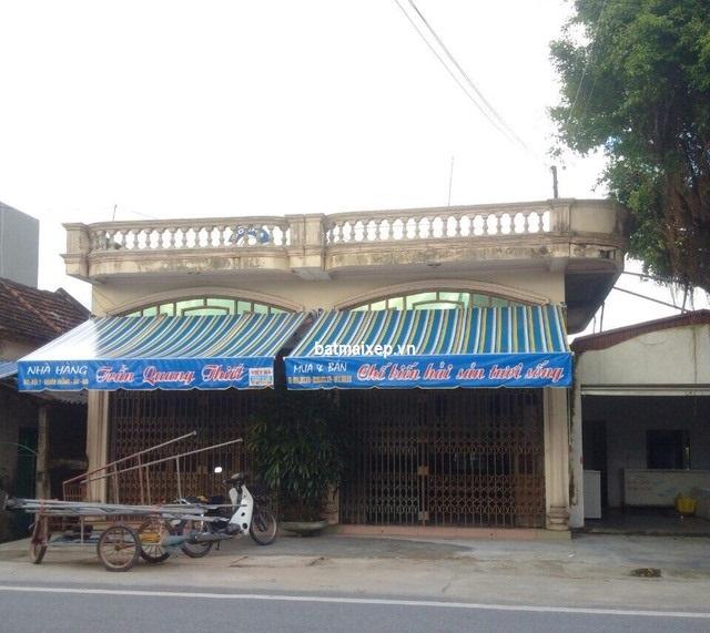mái hiên nhà hàng