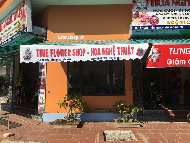 mái hiên di động shop hoa