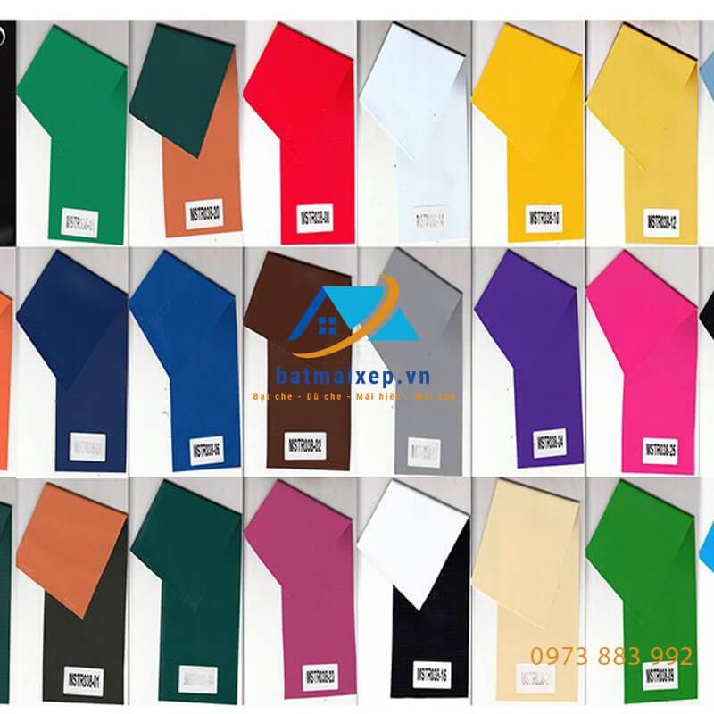bạt có mẫu mã màu sắc đa dạng
