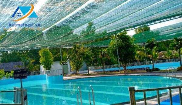 Lưới che nắng hồ bơi