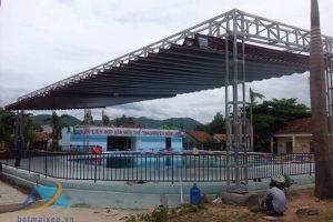 Thi công mái xếp di động tại Thái Bình
