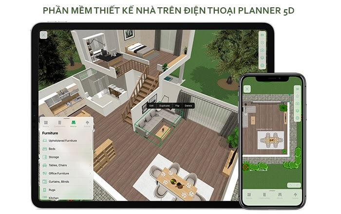 Phần mềm thiết kế nhà 3D trên điện thoại