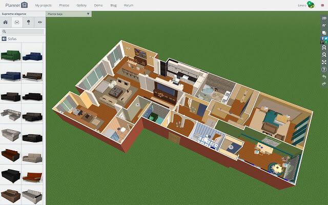 Mẫu phần mềm thiết kế nhà