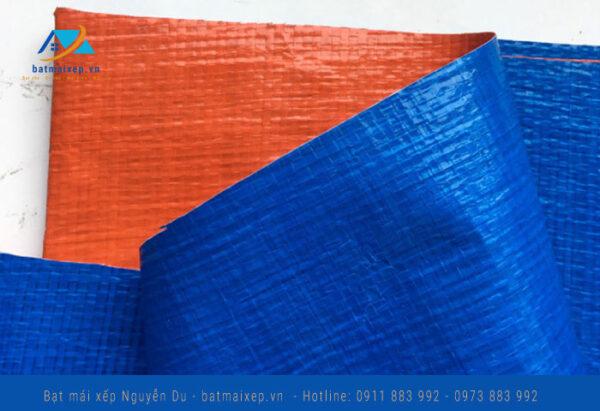 Bạt cam xanh khổ 4m